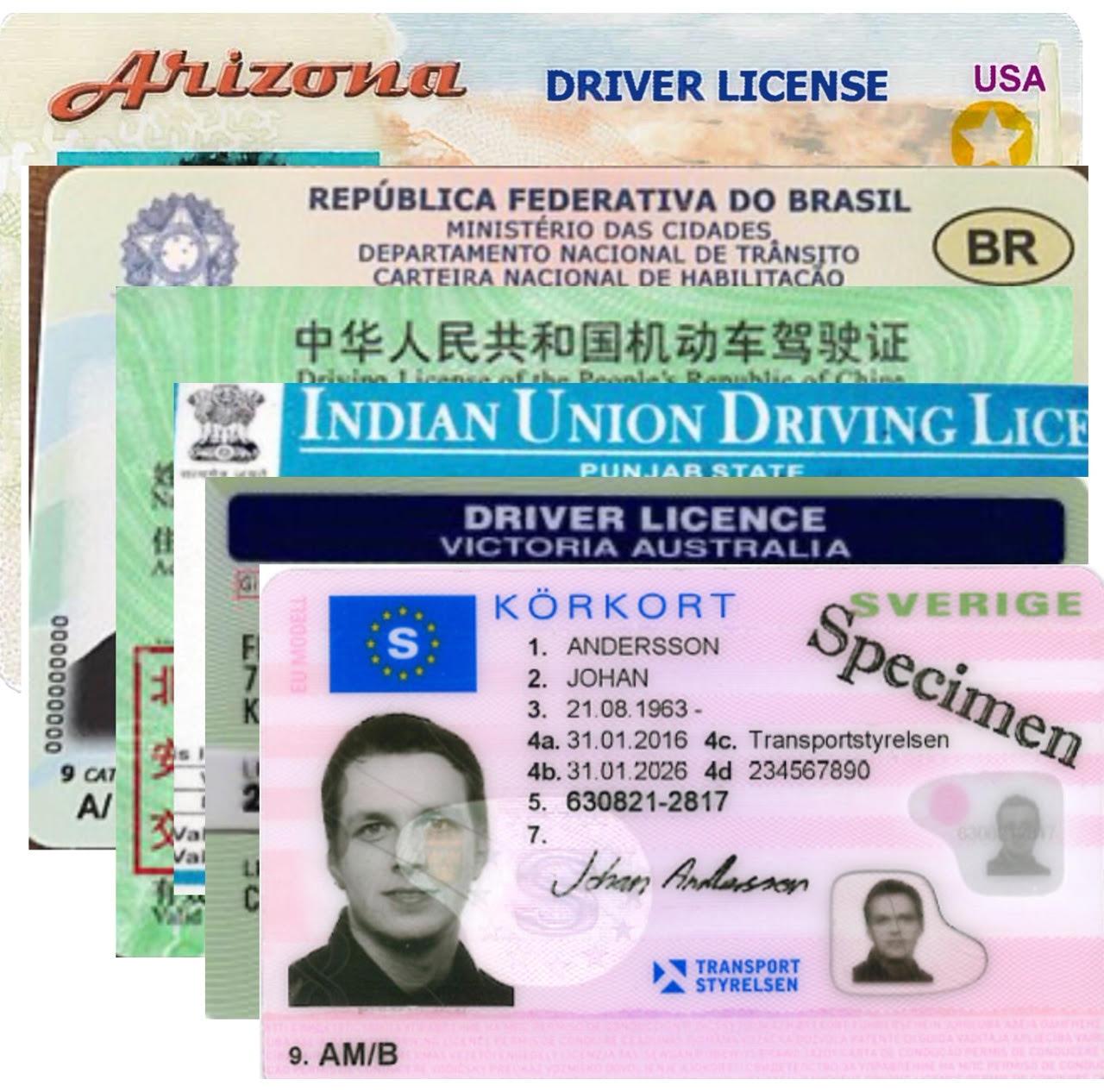 utländskt körkort